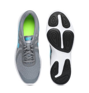 Nike Boys Grey REVOLUTION 4 Running Shoes